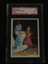 FABULOUS MOOLAH 1985 TOPPS WWF SIGNED AUTOGRAPHED CARD #47 SGC AUTHENTIC