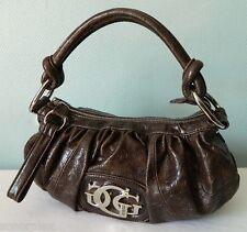 *+*+* Très joli sac hobo épaule CUIR marron nuancé reliefs GUESS bag TBE *+*+*