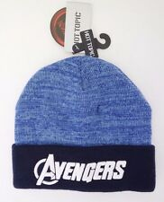 Marvel Hot Topic Avengers Age Of Ultron Knitted Blue Men's Beanie Hat NWT