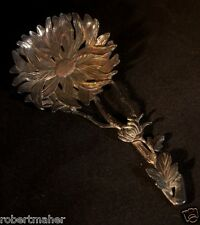 Chrysanthemum Flower Shaped Silver Bon-bon Spoon By a Japanese Silversmith