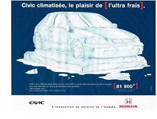 PUBLICITE 1988   HONDA  CIVIC  CLIMATISEE