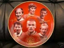 MANCHESTER UNITED PLATE PLAQUE DAVID BECKHAM GEORGE BEST 100 YEARS CELEBRATION