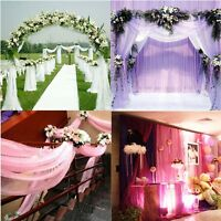 1000x75CM Sheer Organza Roll Wedding Chair Sash Bow Table Runner Swag Decor