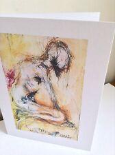 BIGLIETTO d'auguri Nude stampate da dipinto originale di Charlotte Pettifer