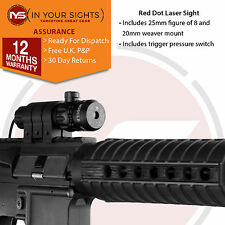 Air rifle/airsoft gun red dot laser sight scope + trigger commutateur + mounts