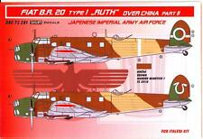 """KORA Decals 1/72 FIAT BR.20 TYPE 1 """"RUTH"""" OVER CHINA Japanese Air Force Part 2"""