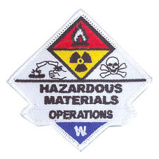 Hazardous Materials Haz Mat Operations Sew On Uniform Patch Firefighter Rescue
