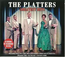 THE PLATTERS GREATEST HITS - 2 CD BOX SET - ONLY YOU, TWILIGHT TIME AND MORE