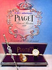 PUBLICITE PIAGET MONTRE L'ELITE DU MONDE COFFRET DE 1954 FRENCH AD PUB COULEUR