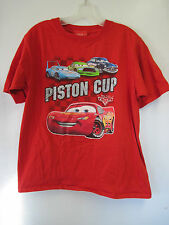 Boy's Disney Pixar Cars Piston Cup Kids T-Shirt Size XL Lightning McQueen