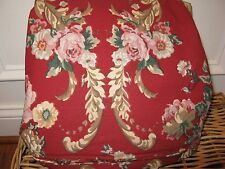 Ralph Lauren MARSEILLES Red Floral King Duvet Cover RARE NEW