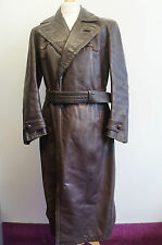 "Vintage WW2 officiers allemands horsehide leather coat taille 42""/44"""