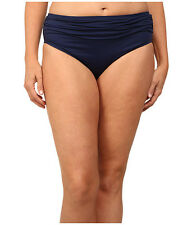 TOMMY BAHAMA PEARL SOLIDS HIGH WAIST SASH SWIM BOTTOMS MARE BLUE 2X LARGE $54