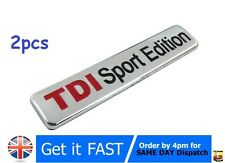 2x TDI Sport Edition Badge Emblem Logo Sticker VW AUDI  S122