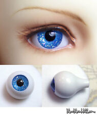 14mm acrylic bjd doll eyes glitter blue full eyeball dollfie AE-46 ship US