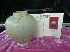 AUTHENTIC CHINESE TANG DYNASTY ( 618 TO 907 AD ) CELEDON VASE WITH CERTIFICATE