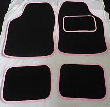 Car Mats Black and Pink trim car mats MINI COOPER S CLUBMAN FIRST ONE ROADSTER