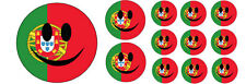 SMILEY FACE WITH PORTUGAL / PORTUGUESE FLAG VINYL STICKERS - Various Sizes