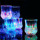 7 OZ LED Flashing Glowing Water Liquid Activated Light-up Wine Glass Cup Mug