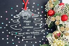 Personalised 1st Christmas Together Tree Decoration Gift Tag  FREE GIFT BAG