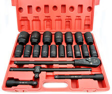 HD 3/4 in. Drive Deep Impact Socket Set  Cr-Mo 22-Piece Pro industrial Grade