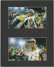 JEFF GORDON 2015 HOMESTEAD MATTED PICS OF LAST RACE GETTING OF CAR@WAVING TO FAN
