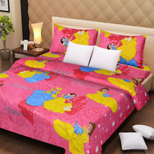SYK Soft Cotton Double Bed sheet,Bedsheets with 2 Pillow Cover (046) PRINCESS