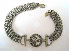 *HORSE BIT* BRONZE CHARM Strong Chain BRACELET GIFT BAG XMAS Equestrian