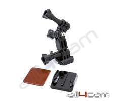Sjcam SJ4000 sj5000 XIAOMI Yi Side Mount Base Curva Casco 3 Way Pivot Arm