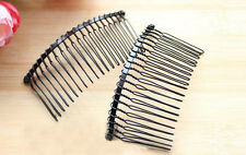 Wholesale Blank Metal Hair Comb 20 teeth bridal Jewelry hair accessories