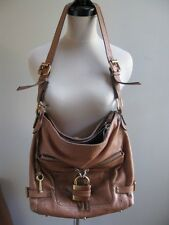 $1598 CHLOE PADDINGTON PADLOCK HOBO COGNAC BROWN CAMEL CROSS BODY SHOULDER BAG