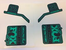FOX Factory Series Fork 36 Green Left and Right Decal Set 36mm Stickers