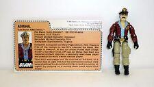 GI JOE KEEL HAUL Action Figure Red Back COMPLETE w/FILE CARD C9+ v1 1985 1989