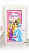 Disney Princess Girls Birthday Party Plastic Door Banner Poster Personalise