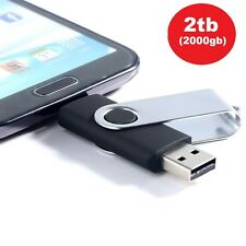 2 Tb - 2000 Gb Otg Flash Memory Stick USB 2.0 para Android Smartphones, tabletas y PC
