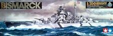 "Tamiya 78013 1/350 German Battleship ""Bismarck with Stand"