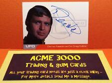 GERRY ANDERSON UFO inarrestabile Derren Nesbitt Autograph CARD DN1 Craig Collins