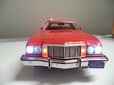 "Starsky & Hutch Ford Gran Torino 1/18 Movie POLICE Car CUSTOM ""WORKING LIGHTS"""