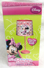 "MINNIE MOUSE BOWTIQUE, ""SMILES ARE IN STYLE"" DESK / TABLE LAMP, NEW FAST SHIP"
