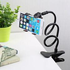 Flexible long arms lazy stand clip holder pour téléphone portable bureau lit voiture noir