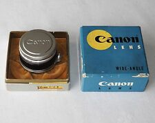CANON 35mm 2.8 R/F M39 LEICA THREAD MOUNT CAPS BOXED & MINT!