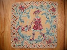 Pillow Cover Musical Italian Tapestry FLUTE PLAYER 20x20