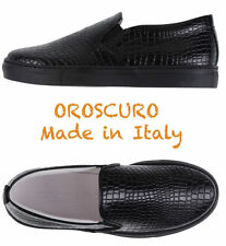 $295 OROSCURO MADE IN ITALY WOMEN'S CROC EMBOSSED FASHION SNEAKERS. SZ 40/10 M
