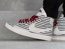 Nike Blazer Mid Prm QS Men US 12 White/Dark Obsidian-Gym Red Patriotic skate