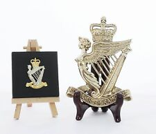 The Royal Irish Rangers - LARGE Solid Brass display badge (14.5cm x 10cm)