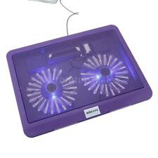 """2 Fans 12-15"""" Laptop KKMOON Cooling Cooler Pad Stand for Notebook PC Purple Best"""