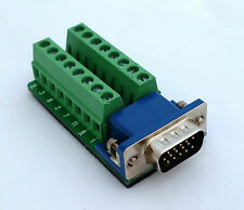 DB15 DSUB 15-pin HD Male Adapter VGA Breakout Board Connector D3: £8.75 FREE p&p