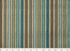 10 YARDS CLASSIC KOPLAVITCH BATISTE BLUE GREEN CUT VELVET STRIPE FABRIC OUTLET
