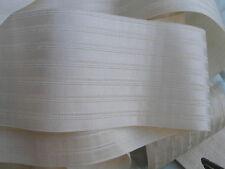 2m + 65cm de ruban XIXème en soie naturelle écrue à coiffe ou autre largeur 7cm
