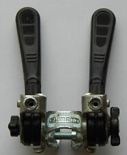 Vintage Shimano Downtube Friction Shift Levers Shifters Black w. Clamp Very Nice